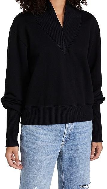 AGOLDE Klara Extended V Neck Sweatshirt