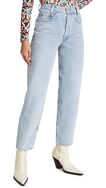 AGOLDE 锥形宽松高腰牛仔裤