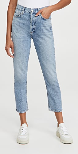 AGOLDE - Riley 高腰直脚中长牛仔裤
