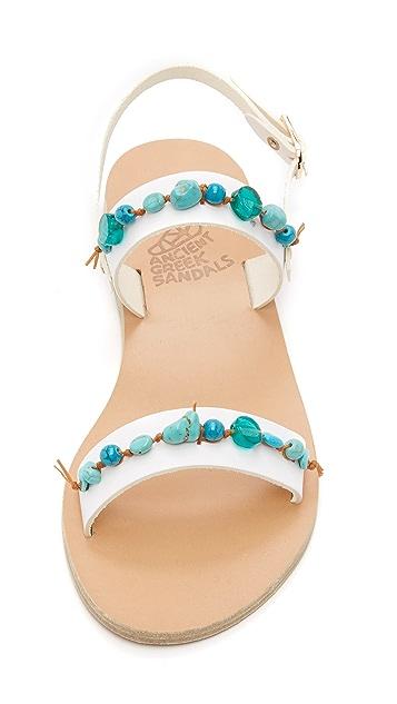 Ancient Greek Sandals Clio Beaded Sandals