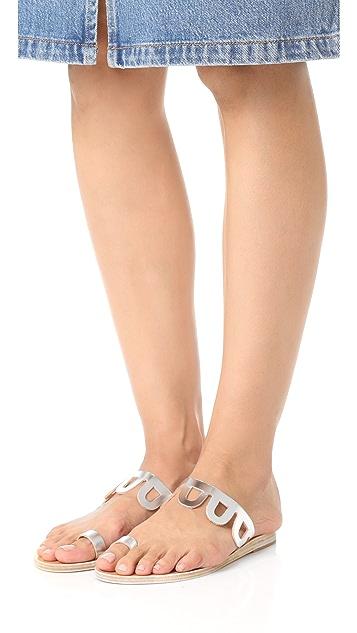 Ancient Greek Sandals Venus Toe Ring Slides