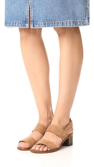 Ancient Greek Sandals Lefki Block City Sandals
