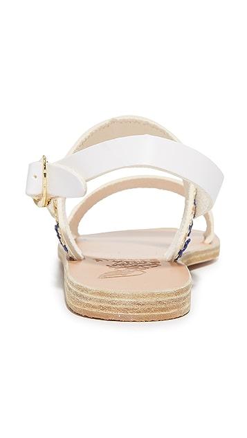 Ancient Greek Sandals Сандалии Dinami из рафии