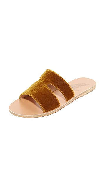 Ancient Greek Sandals Apteros Slides