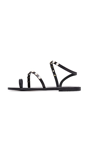 Ancient Greek Sandals Alpi Eleftheria Perals Sandals