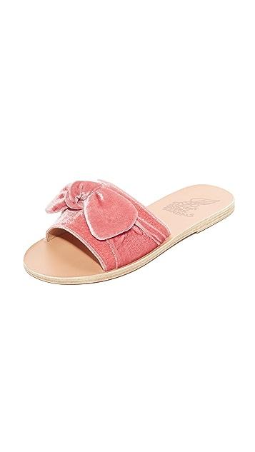 f086f90e5b77 Ancient Greek Sandals Taygete Bow Slides