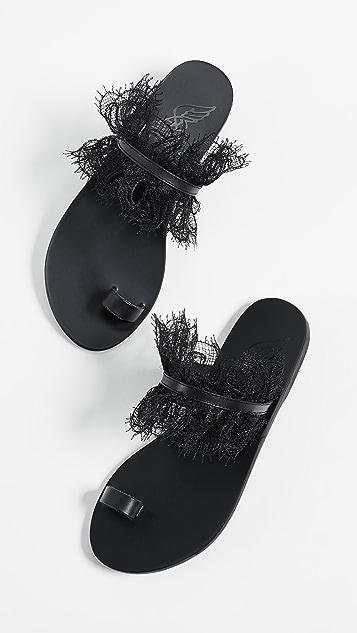 Ancient Greek Sandals Thalia Toe Ring Slides