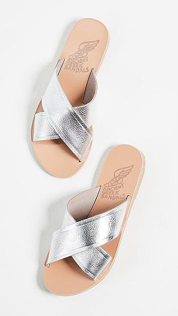 Ancient Greek Sandals Thais Crisscross Slides
