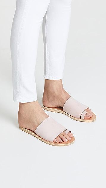 Ancient Greek Sandals Ligia Toe Ring Slides