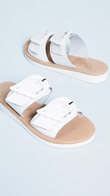 Ancient Greek Sandals Iaso Buckle Slide