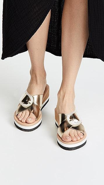 e948379cf24 ... Ancient Greek Sandals Thais Rainbow Slide Sandals ...