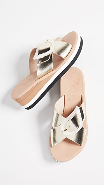 Ancient Greek Sandals Thais Rainbow Slide Sandals