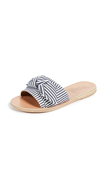 Ancient Greek Sandals Taygete Bow Slides