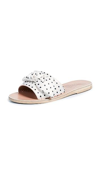 Ancient Greek Sandals Taygete Bow Slide Sandals
