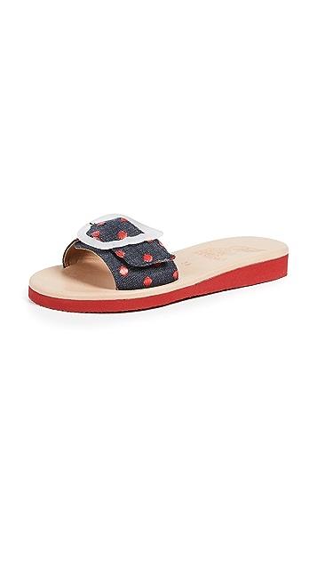 Ancient Greek Sandals Aglaia Slide Sandals