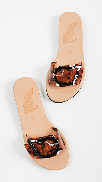 Ancient Greek Sandals Aglaia Slides
