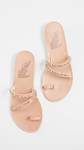 Ancient Greek Sandals Apli Katia Diamonds Slides