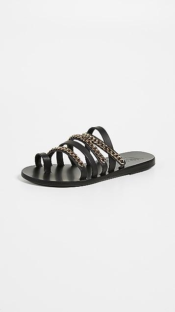 Ancient Greek Sandals Niki Chains Slide Sandals