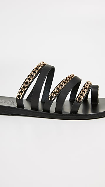 Ancient Greek Sandals Niki Chains Slide Sandals
