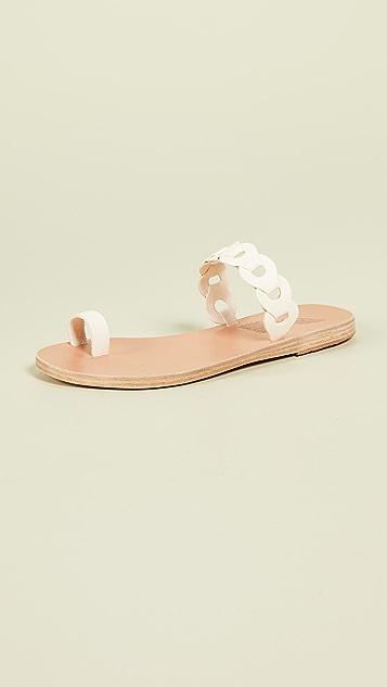 Ancient Greek Sandals Сандалии без застежки со звеньями Thalia