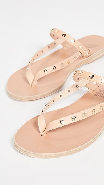 Ancient Greek Sandals Mirsini Nails Flip Flops