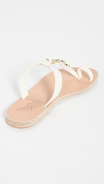Ancient Greek Sandals Сандалии Iris с ракушками