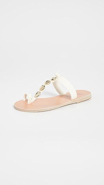 Ancient Greek Sandals Iris Shell Sandals