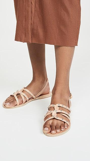 Ancient Greek Sandals Сандалии Schinousa с заклепками