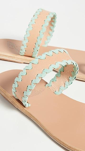 Ancient Greek Sandals Thalia Zigzag Slides