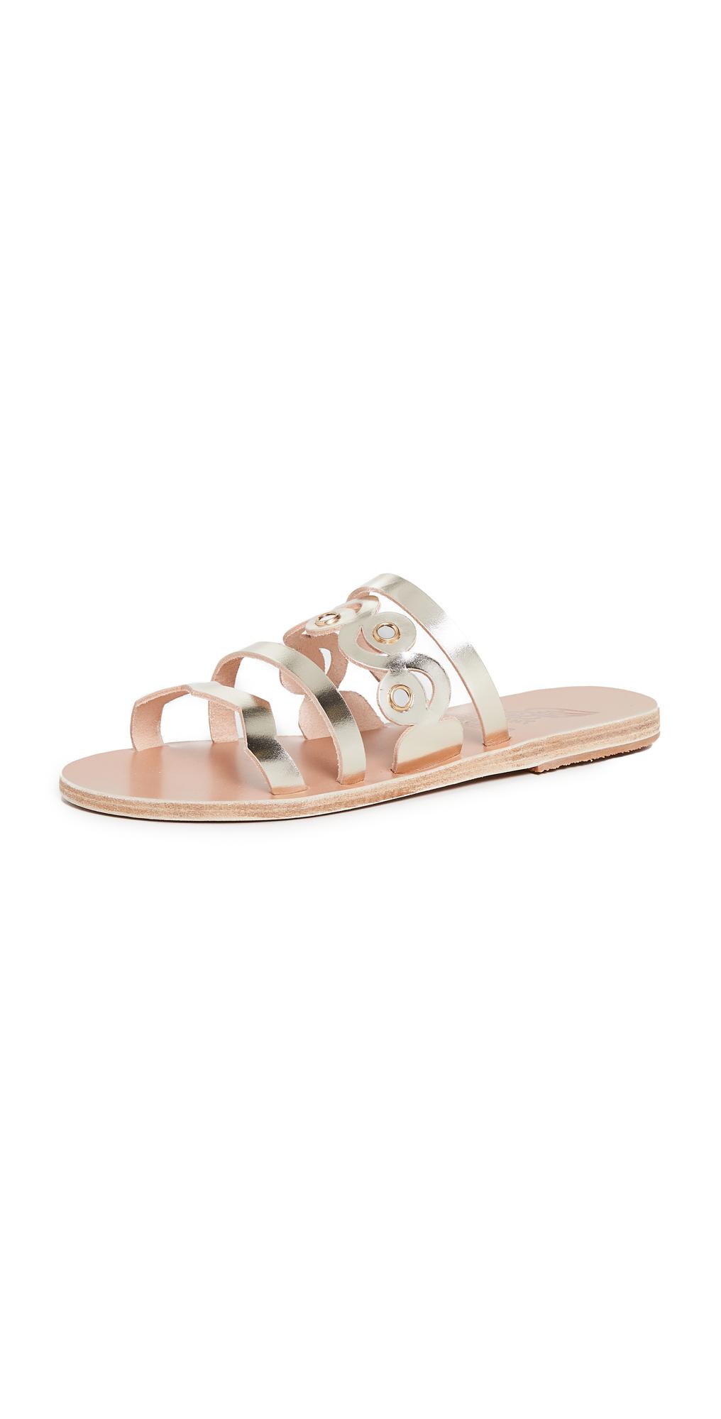 Ancient Greek Sandals Meltemi Mirrors Slides
