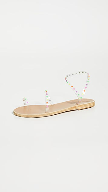 Ancient Greek Sandals Apli Eleftheria 水晶凉鞋