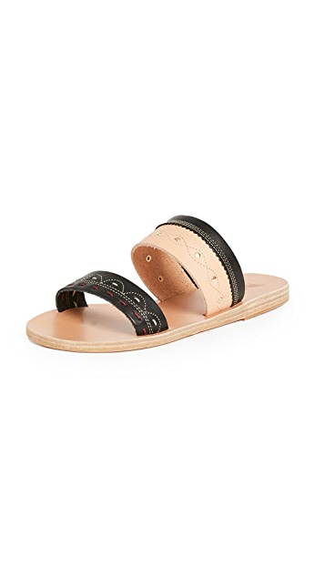Ancient Greek Sandals x Zeus + Dione Tsarouchi Slides