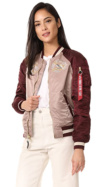 Alpha Industries MA-1 Reversible Souvenir Eagle Jacket