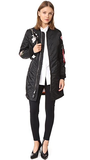 Alpha Industries MA-1 Long Souvenir Illusion Bomber Jacket