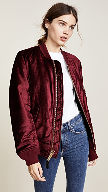 Alpha Industries MA-1 Velvet Bomber Jacket