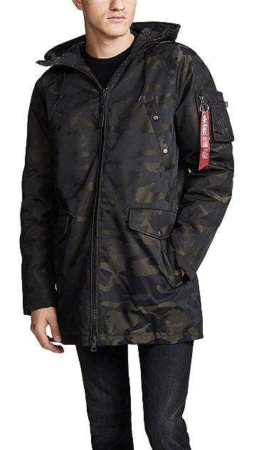Alpha Industries N3B Camo Jacquard Coat