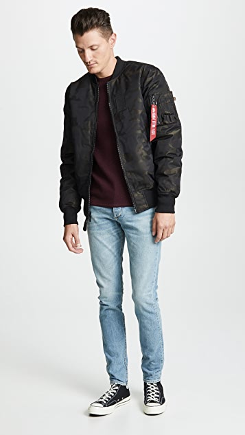 Alpha Industries MA-1 Down Flight Jacket Jacquard
