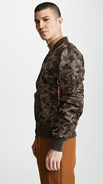 Alpha Industries L2B Blood Chit Battlewash Flight Jacket