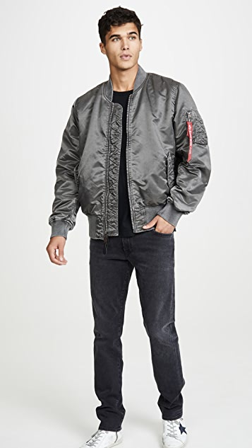 Alpha Industries Ma-1 Blood Chit Battlewash Flight Jacket