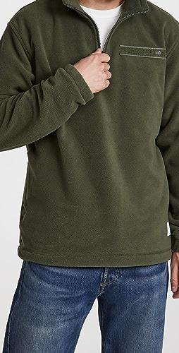 Alpha Industries - Quarter Zip Fleece Pullover