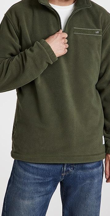 Alpha Industries Quarter Zip Fleece Pullover
