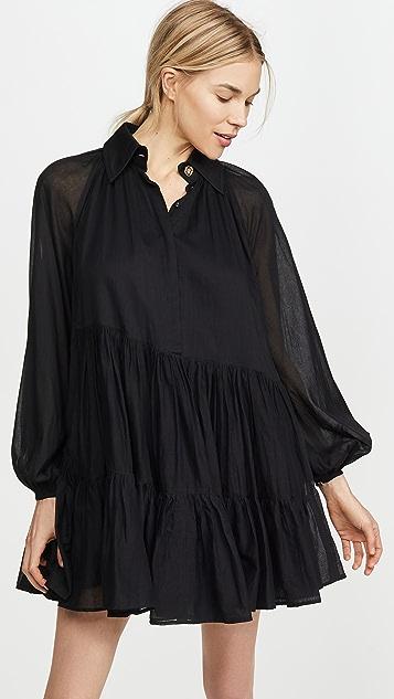 Aje Mimosa Gathered Shirt Dress