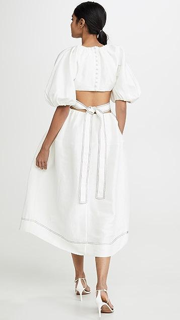 Aje Миди-платье Mimosa с вырезами