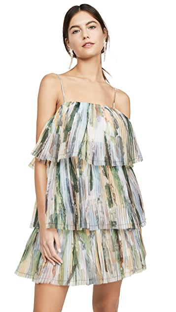 Aje Paperbark Sunray Mini Dress
