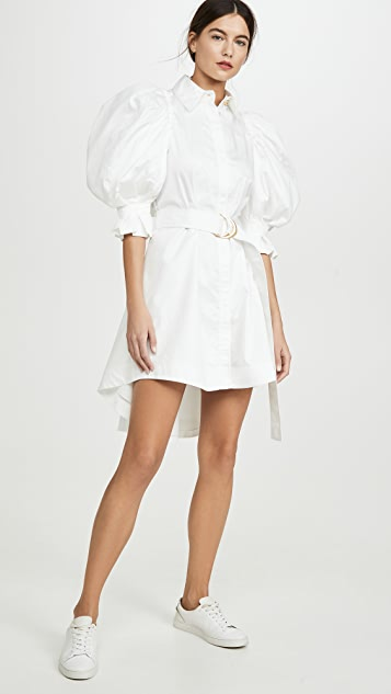 Aje Eucalypt 泡泡袖衬衣连衣裙