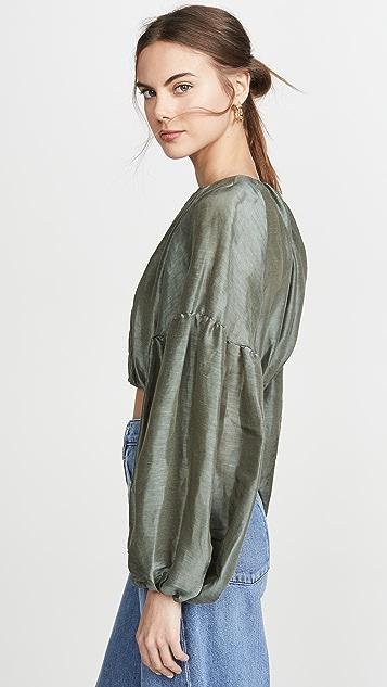 Aje Укороченная свободная блуза Eucalypt
