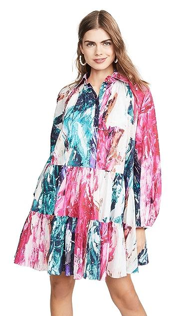 Aje Salt Lake 褶皱衬衣式连衣裙