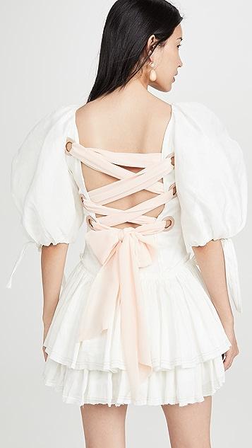 Aje Overture 系带芭蕾舞迷你连衣裙