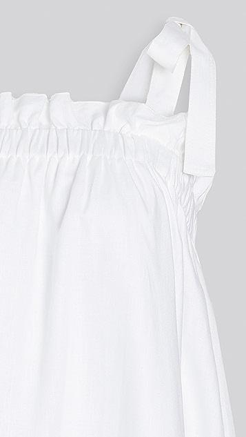 Aje Allégro Gathered Tie Mini Dress
