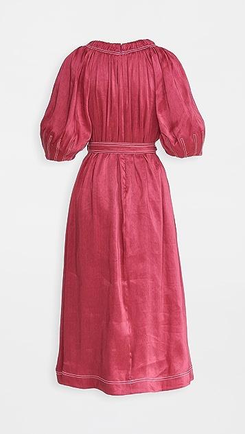 Aje Rebellion Midi Smock Dress
